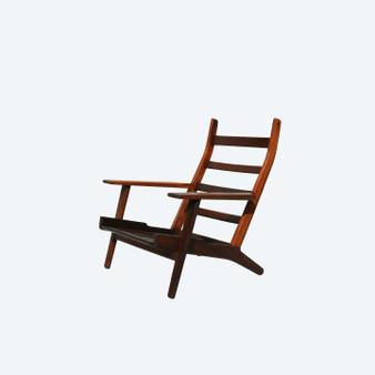 Mid Century High Back Lounge Chair By Hans J. Wegner For Getama, 1960s