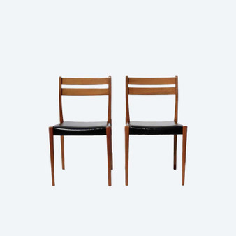 Danish Style Mid Century Teak Dining Chairs By Svegards Markaryd 1960 Set Of 2