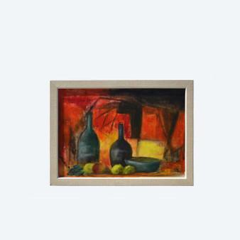 Original Vintage Oil Painting Still Life With Lemons, Signed