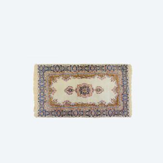 Vintage or Antique Persian Floral Pink Wool/Silk Oriental Carpet/Rug