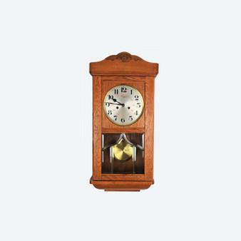 Art Deco Style Early 20th Century Carl Jönsson Wall Clock, Oak Case, 1929