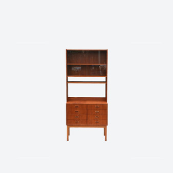 Vintage Teak Shelving Wall Unit Bookcase Made in Sweden, 1960s Retro Mid Century