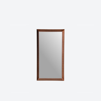 Vintage Design Large Wall Mirror in Copper Frame by Glass & Tra, Sweden 1960s