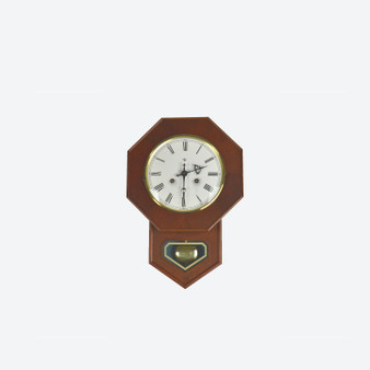 Vintage Octagonal Wall Clock Mid 20th Century Franz Hermles Fhs Movement