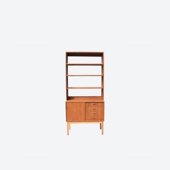Vintage Teak Shelving Wall Unit Bookcase made in Sweden 1960s