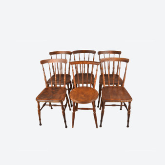 Set Of 6 Antique Early 20th Century Dining Chairs By Från F Vetlanda