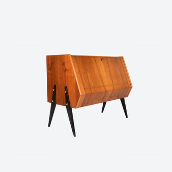 Vintage Danish Style Vinyl Record Payer Cabinet  1960s
