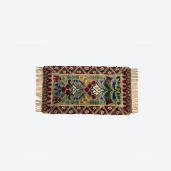 Vintage Swedish Multicolor Wool Rya Weaving Rug Circa 1960