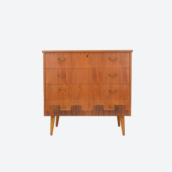 Vintage Danish Teak Chest of Drawers 1960s