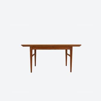 Vintage Swedish Adjustable Teak Coffee Or Dining Table By O. Carlsson Emmaboda Möbelfabrik No 31, 1957