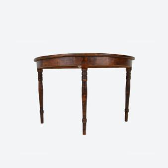 Antique Half-moon Console Table Scandinavian 1800s