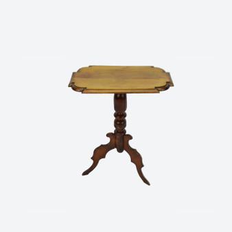 Antique Swedish Small Gustavian Pedestal Table, 1860s