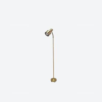 Vintage Scandinavian Brass Spotlight Floor Lamp by NAFA