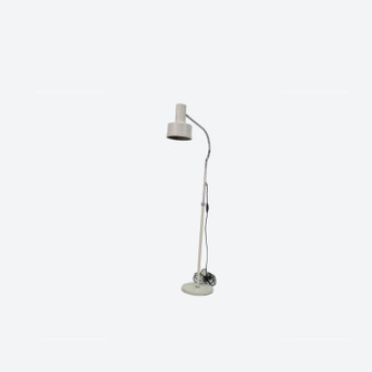 Vintage White Metal Spotlight Floor Lamp Kosta Lampen, Anders Pehrson For Atelje Lyktan 1970s