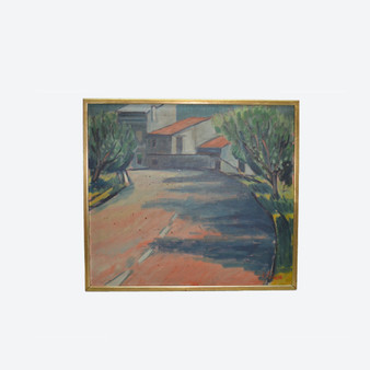 Contemporary Oil On Canvas Italian Countryside Painting, By Gunnar Ingemar Erixon 1982