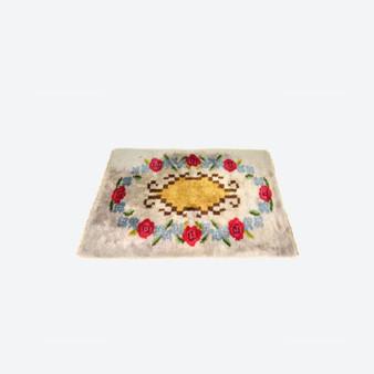 Vintage Rya Rug Multicolor Carpet Handwoven  Swedish 1960s