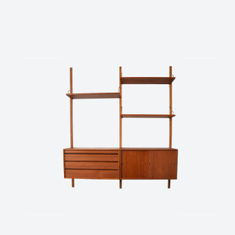 Danish Teak Royal System Modular Wall unit by Poul Cadovius 1960s