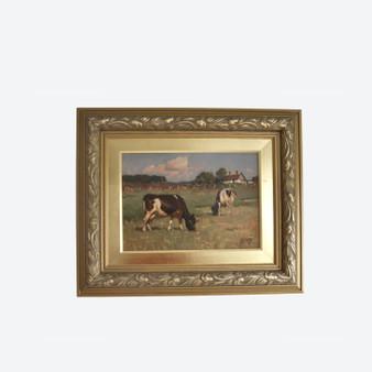 Vintage Oil On Canvas Countryside Farmland Painting, By Sören Edsberg In 1945