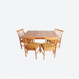 Set of Swedish Teak dining table and 4 chairs, 1960s