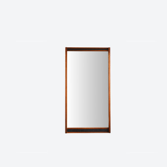 Large Wall Mirror in Rosewood Frame by Glass & Tra, Sweden 1960s