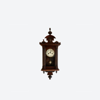 Antique Small Junghans Wall Clock Signed
