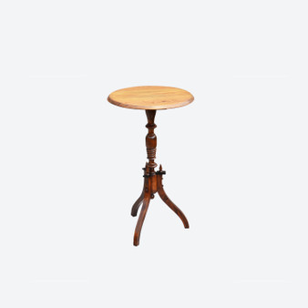 Antique Swedish Pine Pedestal Table 19th Century