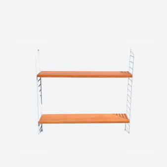 Vintage Teak String Sistem Ladder Shelves BFB Hyllan, Sweden 1950-60s