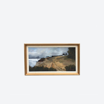 Vintage Oil On Canvas Countryside Landscape Painting, By Gustav Stenberg 1960s