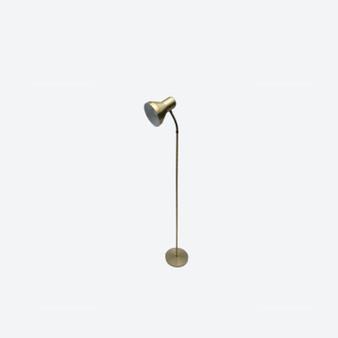 Vintage 20th Century Brass Spotlight Floor Lamp, Working With European Plug