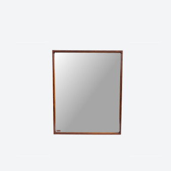 Large Rosewood Wall Mirror by Ateljé Glas & Trä, Sweden Circa 1960s