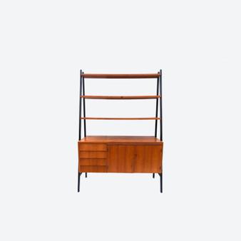 Details about  Vintage Mid-Century Walnut Shelf System By Karlit, Made In Sweden Circa 1960s