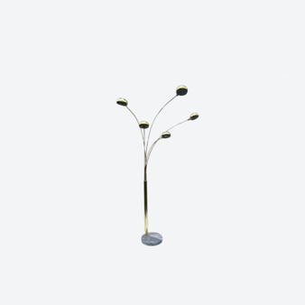 Vintage Arc Floor Lamp In Gustav Arco Style With Marble Base, Circa 1970's