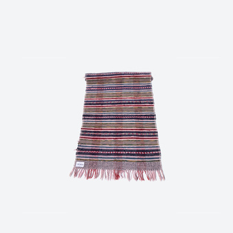 Contemporary Swedish Handwoven Cotton Craftsmanship Multicolour Rag Rug
