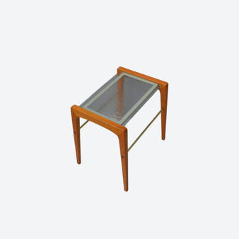 Vintage Danish Style Oak and Glass Top Coffee Table, Made in Sweden Circa 1970's