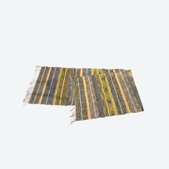 Contemporary Swedish Handwoven Cotton Craftsmanship Pastels Multicolour Rag Rug