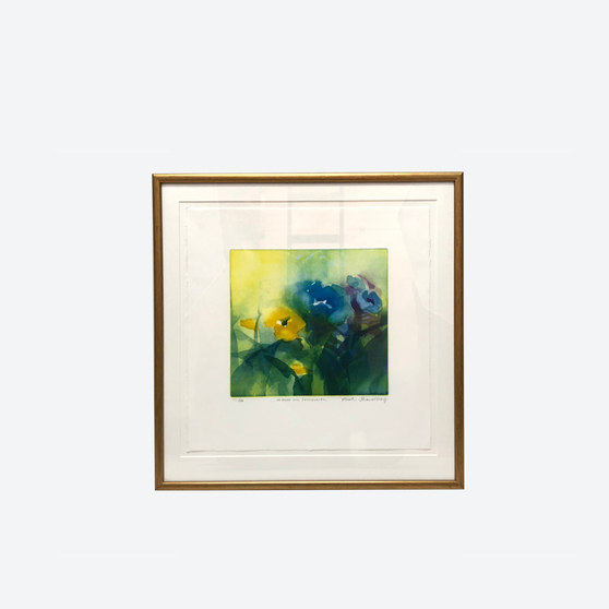 """Contemporary Floral Colour Lithography By Kersti Strandberg """"Reminiscent of Summer"""" 2000s"""