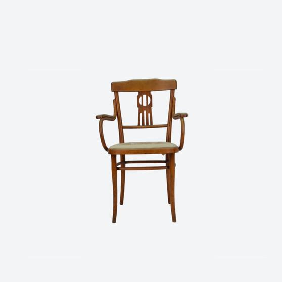 Antique Early 20 Century Art Nouveau Thonet Style Bentwood Armchair, Desk Chair
