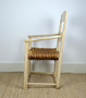 Antique Original 1853 Shabby Chic, Country Arm Chair, Wicker, Victorian, Swedish Antique