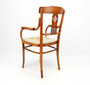 Antique Early 20 Century Art Nouveau Thonet Style Bentwood Armchair, Desk Chair