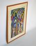Vintage Pastel on Paper Figurative Composition Drawing, By Nancy Nõmmeots 1958