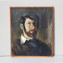 Vintage Oil On Canvas Man Self-Portrait, Signed By Mick Arnup, Circa 1950s