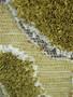 Contemporary Handmade Green Stump Moss Cotton Wall Decor