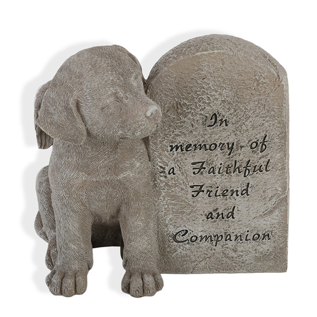 Faithful Friend Memorial Dog Plaque