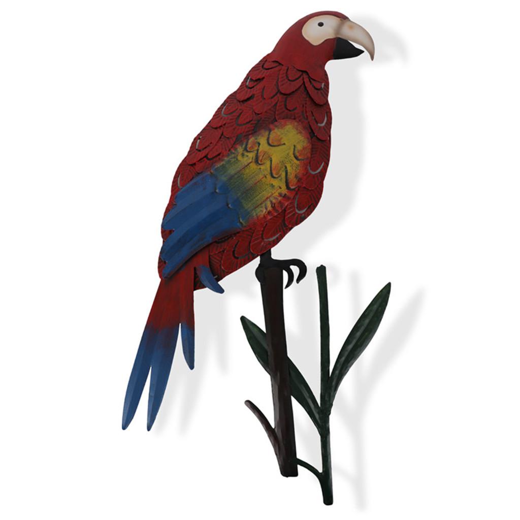 Parrot Hanging Metal Wall Art 54cm