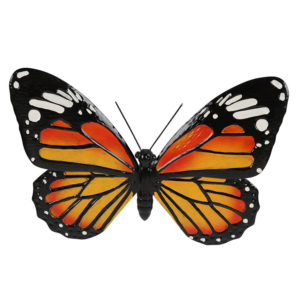 Monarch Butterfly Hanging Metal Wall Art 47cm