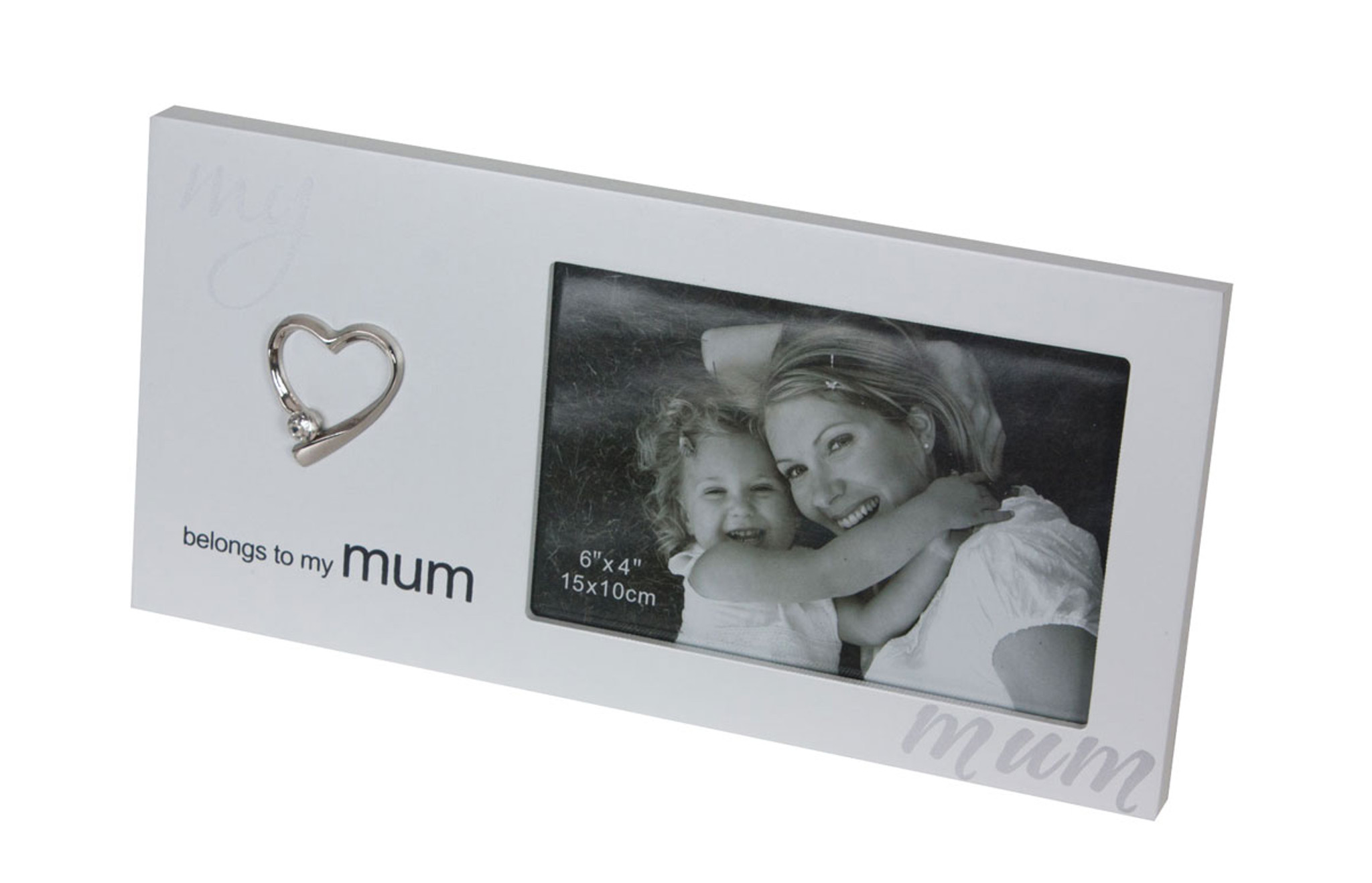 My Heart Belongs To My Mum White Photo Frame | mother | gift | love