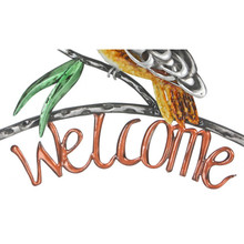 Kookaburra Australian Metal Wall Welcome Plaque 37cm