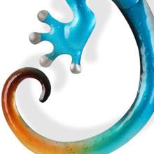 Gecko Metal Wall Art 55cm Yellow Head Lizard