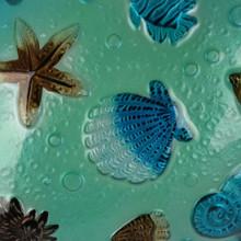 Tones of Blue Turtle Metal Wall Art 50cm