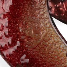 Large Dessert Red Glass Gecko Metal Wall Art 60cm
